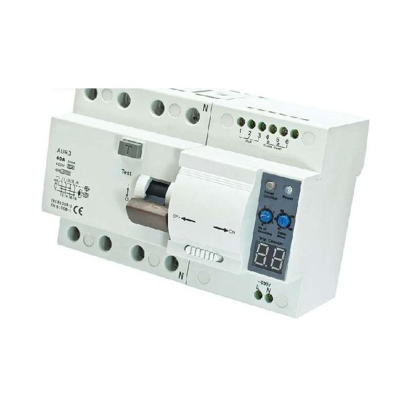 Interruptor diferencial rearmable tetrapolar - Interruptor magnetotermico precio ...