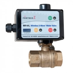 Motorized solenoid valve controlled by Z-Wave 3/43 from FORTREZZ