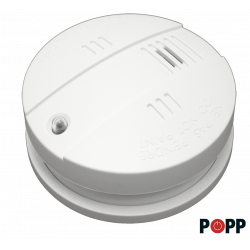 Sensor de Humo Z-Wave Plus con función de sirena interior de Popp