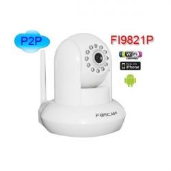 Foscam FI9821P/W camara IP (1.0Mpx) WIFI Motorizada blanca H264
