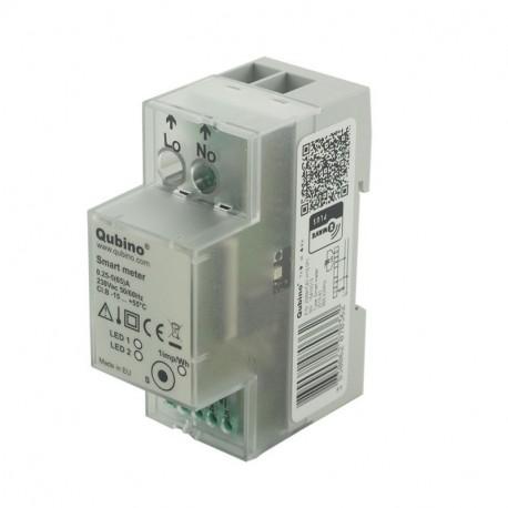 """QUBINO """"smart meter"""" Módulo medidor de consumo electrico Z-Wave+ para carril DIN"""