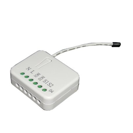 Philio PAN04-1B Z-Wave Plus 2x1,5 Kw - Micromódulo interruptor de 2 relés y control de consumo