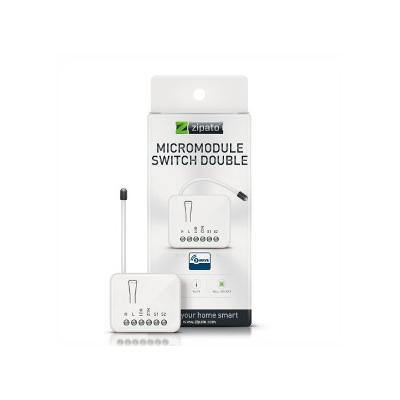 ZIPATO micromodulo relé doble 2X1.5KW con medición de consumo