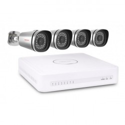 FOSCAM KIT FN3108XE-B4-1T NVR with POE + 4 IP cameras Foscam FI9800EP (POE) + 1T disc included as standard