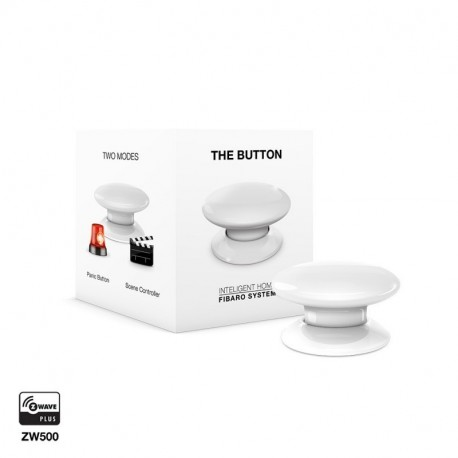 FIBARO The button - Botón Z-Wave+ de Fibar color BLANCO