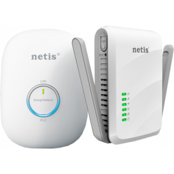 NETIS PL7622KIT Kit 1 PLC 600 Mbps with RJ45 + 1 WiFi 300 Mbps PLC