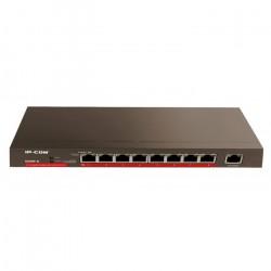 Comutador de 9 portas IP-COM G1009P-EI Área de trabalho de alimentação total de 10/100/1000 Mbps (8 POE 120W)