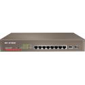 Comutador Gigabit IP-COM G3210P gerenciado 10 portas (8 RJ45 + 2 SFP) Potência máxima (8 POE 120W) Web Smart Rack 19