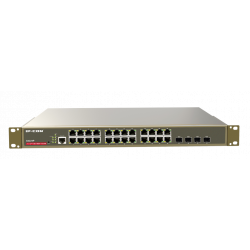 IP-COM G3224P switch 24 Gigabit POE (Full Power: 370 W) 4xSFP manageable Rack format 19