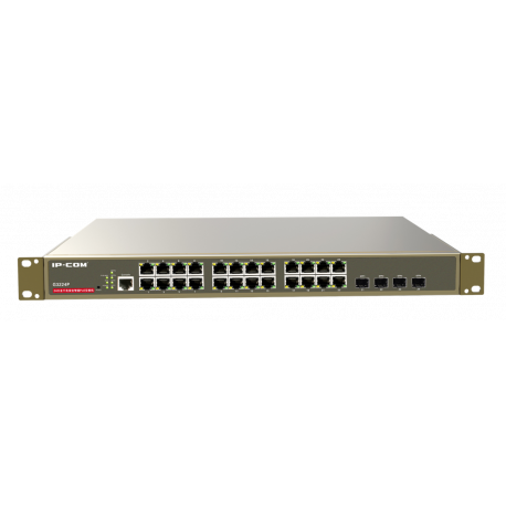 IP-COM G3224P switch 24 Gigabit POE (Full Power: 370 W) 4xSFP gestionable formato Rack 19""