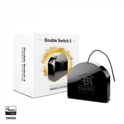 """Fibaro """"Doble Switch 2"""" - Micromodulo relé interruptor doble On / Off Z-Wave+ con medición de consumo"""