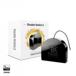 Fibaro -Double Switch 2- Micromodulo relé interruptor doble On / Off Z-Wave+ con medicion de consumo
