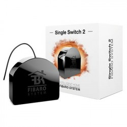 Fibaro -Single Switch 2- Micromodulo rele interruptor sencillo On / Off Z-Wave+ con medicion de consumo