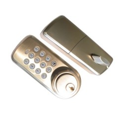 Controllable electronic lock via Z-Wave Vision ZM1701