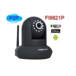 Foscam FI9821P / B câmera IP (1.0Mpx) WIFI preto motorizado H264