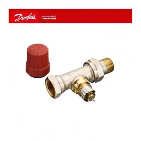 Válvula Danfoss a escuadra termostatizable para instalaciones bitubo