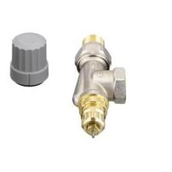 Válvula termostática Danfoss gama RA-FN 1/2'' de escuadra invertida para instalaciones bitubo 013G0143