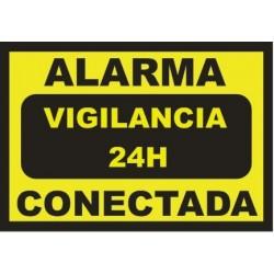 Cartel Alarma conectada - Vigilancia 24h - DIN-A6