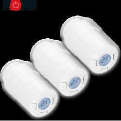 Pack de 3 cabezales termostaticos Popp Z-Wave para radiador