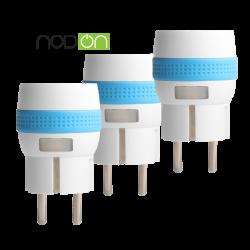 Pack de 3xMicro Smart Plug de NodOn® enchufe con medicion de consumo Z-Wave Plus