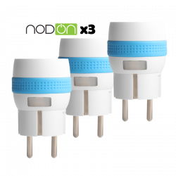 Pack of 3xMicro Smart Plug from NodOn® wallplug with Z-Wave Plus consumption measurement