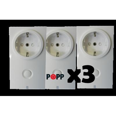 Enchufe interuptor Z-Wave con medición de consumo de Popp