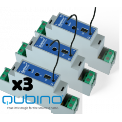 Pack 3xQUBINO Dimmer para trilho Z-Wave + DIN