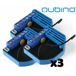 Pack 3xQubino Flush Dimmer