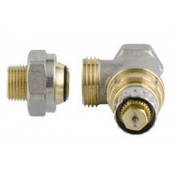 Válvula Danfoss 3/8'' a escuadra termostatizable para instalaciones bitubo 01360021