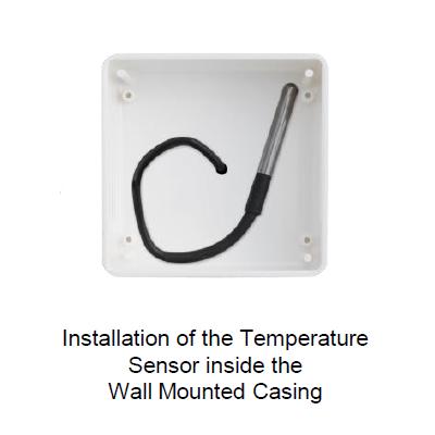 QUBINO - Caja de superficie para motaje en pared para sonda de temperatura