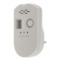Self-contained plug-in gas detector