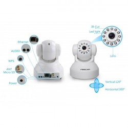 Foscam FI9816P - IP Camera (1,0 Mpx, 720p), Wifi, Micro SD Slot, Mov Detection. Night vision