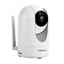 Foscam R4 4,0Mpx 110º Cor de visão noturna Branco, motorizado, interior, Slot Micro SD até 128G, detecção de movimento,
