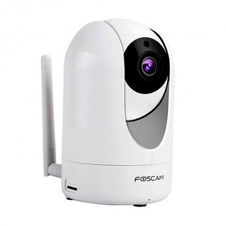 Foscam R4 4,0Mpx 110º Visión nocturna color Blanco, motorizada, interior, Slot Micro SD hasta 128G, detección movimiento ,