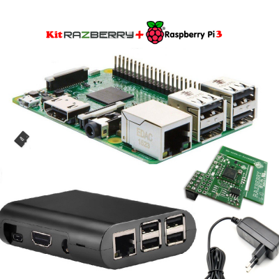 Kit RaspBerryPi3 +  tarjeta GPIO RaZBerry  Z-Wave Plus