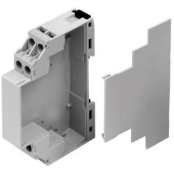 Caixa de trilhos DIN modular para dispositivos Z-Wave