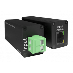 Conversor Ethernet PoE da DoorBird para 2 cabos