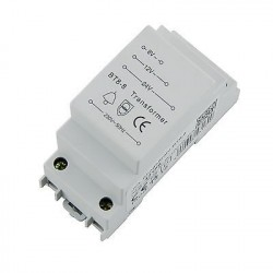Transformador -trafo- para carril DIN de 8V, 12V y 24V AC hasta 8VA