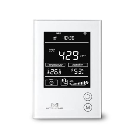 MCOHome Sensor de Humedad, Temeratura y CO2 con pantalla Z-Wave+