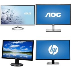 VGA display monitor 18.5 inches (first brand: Acer, AOC, Asus ...)