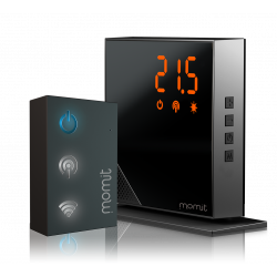 Termostato WIFI para controle de caldeira da Internet - momit Home Thermostat Starter Kit