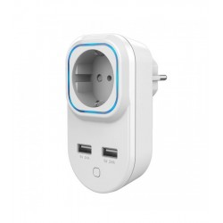 HANK - Wall Plug Z-Wave+ with consumption control with 2 USB ports
