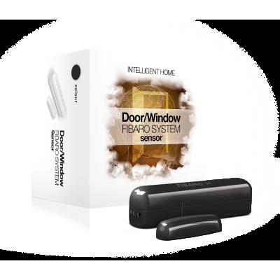 Sensor de apertura para puerta/ventana (NEGRO) con sensor analógico de Fibaro