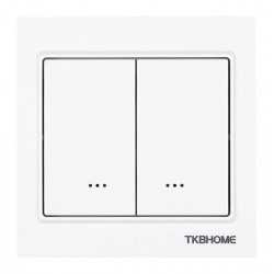 TKB Home TZ57 Recessed double relay switch technology Z-Wave + WHITE