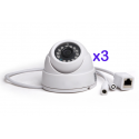 Pack 3x IP camera type dome Foscam FI9851P WIFI 720p Mini-DOMO Adjustable ONVIF