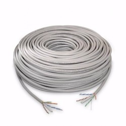 Bobina 100 metros Cable UTP flexible CAT6