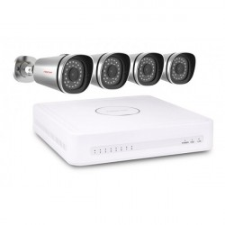 FOSCAM KIT FN3108E-B4-1T NVR with PoE Standard + 4 IP PoE Cameras + 1T Disk included as standard