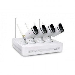 Kit FOSCAM FN3104W-B4-1T, WIFI, 4Ch, includes 4 Bullet 720P IP cameras 1.0Mpx, Recorder, Disk 1T