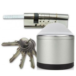 Pack Cerradura domotica DANALOCK V3 (BT y  HomeKit) + Cilindro - Cerradura y cilindro en un lote