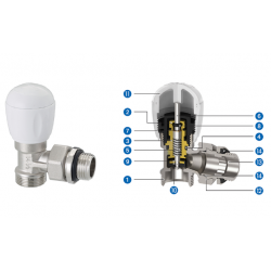 Thermostatic valve EMMETI 3/8 inch